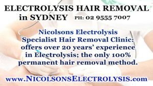 Nicolsons Electrolysis in Sydney center for Permanent Hair Removal in Australia